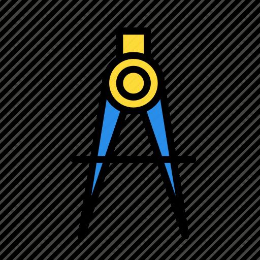 circle, compass, geometry icon