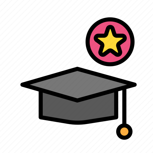 fav, graduation, hat, people, student, user icon