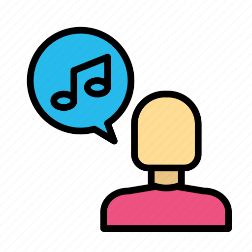 music, sing, user icon