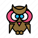 class, learn, owl, study icon