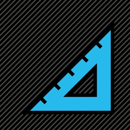 measure, round, size, triangleruler icon