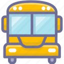school, school bus, student icon