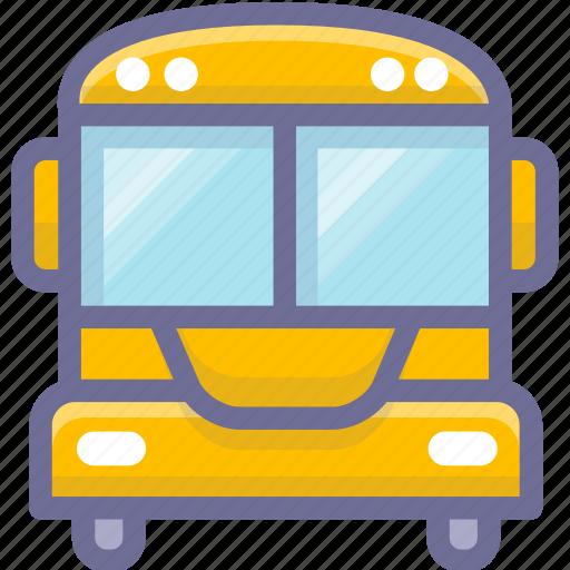 school, school bus, student icon