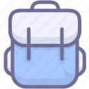 go to school, satchel, schoolbag icon