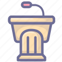 learning, podium, study icon
