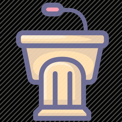 learning, podium, study icon