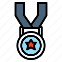 achieve, finisher, goal, medal, running, win icon