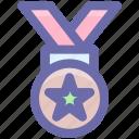 award, badge, medal, position, school prize, star, winner icon