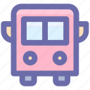 autobus, bus, coach, school bus, school van, transport, vehicle icon
