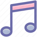 audio, eighth note, eqaver, music, music note, musical note, song, sound icon