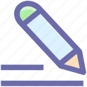 edit, editorial, education, pen, pencil, school, write, writing icon