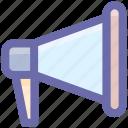adverstising, announcement, bullhorn, loud, loudspeaker, marketing, megaphone, promotion, sound, speaker icon