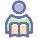 bookmarks, learning, reading, reads, school, student icon