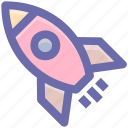 astronomy, launch, missile, rocket, ship, space, spacecraft, spaceship, startup icon