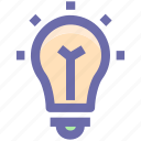 bulb, electric, idea, lamp, light, light bulb, technology icon