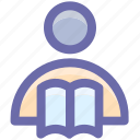 education, library, reading, school, student, study icon