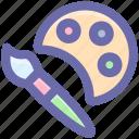 art, artist, brush, drawing brush, paint, paint brush, paint palette, tool icon