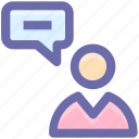 chat, comments, conversion, message, talk, user icon