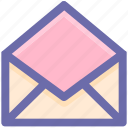 email, envelope, inbox, letter, message, open, open envelope, post, send icon