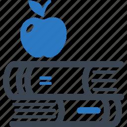 apple, education, library, school book icon