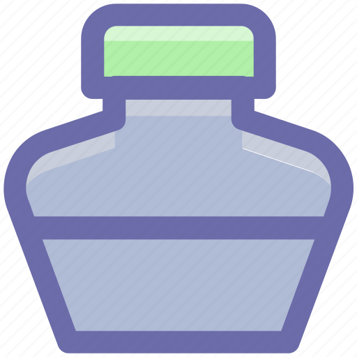 .svg, bottle, ink, ink bottle, ink pot, leaf icon