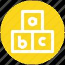 .svg, abc, alphabet, blocks, bricks, puzzle, toy icon