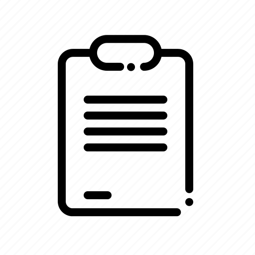 clipboard, document, file, paper icon