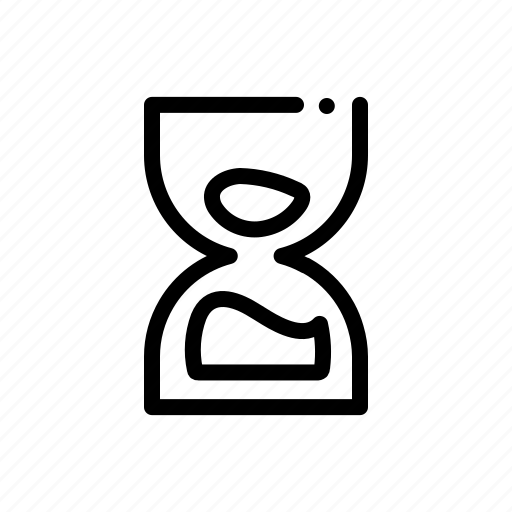 hourglass, time, timer, wait icon