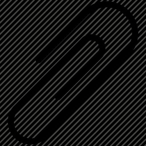 attach, attachment, file, paperclip, school icon