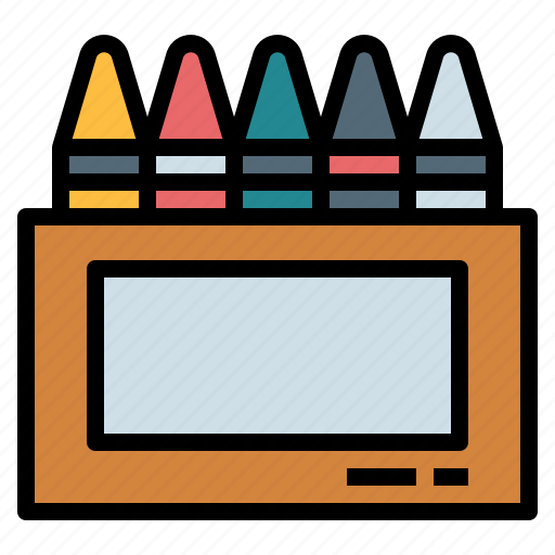 Crayon, draw, education, write icon - Download on Iconfinder