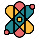 atomic, education, electron, science icon