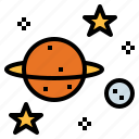 education, saturn, science, space icon