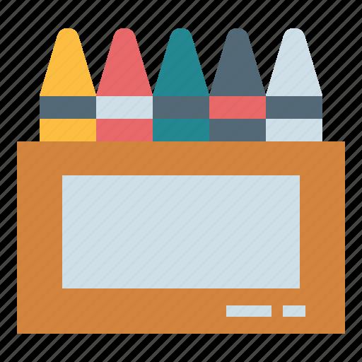 crayon, draw, education, write icon