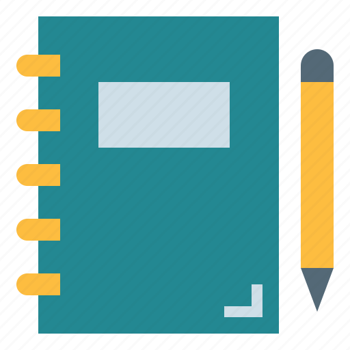 education, learning, notebook, writing icon