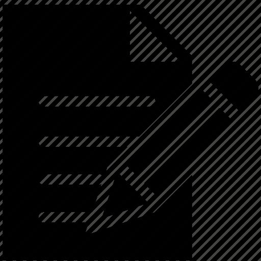 notepad, pen, pencil, text icon icon