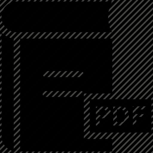 book, pdf, pdf book, pdf file, pdf format icon icon