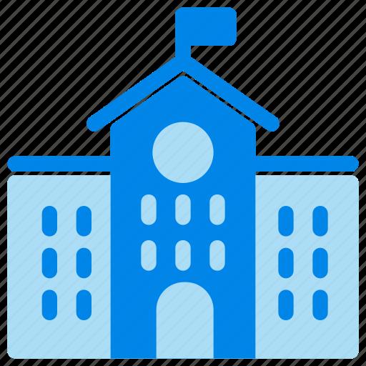 architecture, building, college, school building, university icon