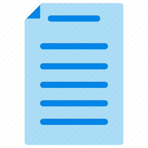 document, paper, sheet, task icon