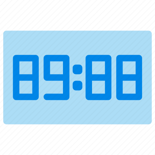 alarm, clock, digital clock, time icon