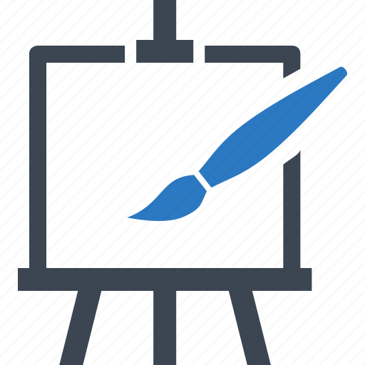 art, creative, design, easel, education, paint brush, painting icon