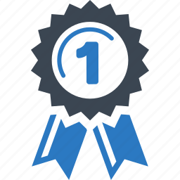 achievement, award, first place, quality, ribbon icon