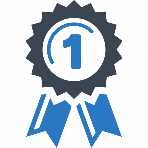 achievement, award, best, first place, quality, ribbon, winner icon