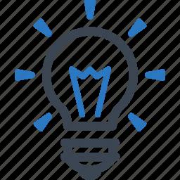 brainstorming, business, creativity, energy, idea, light bulb, power icon