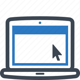 education, elearning, laptop, notebook, online courses, online education, online learning icon