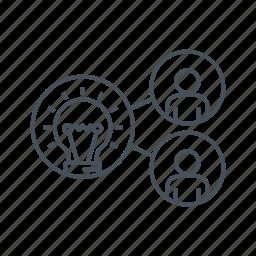 idea, network, share idea, social, teamwork icon