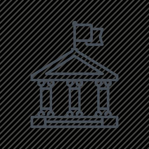 bank, classroom, college, school, university icon