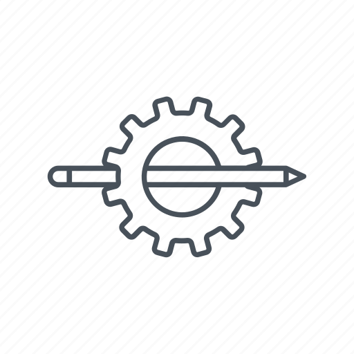 cogwheels, gear, repair, settings, support, writing icon