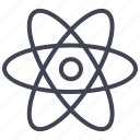 atoms, education, experiment, laboratory, molecule, science icon