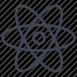 atoms, education, experiment, laboratory, molecule, science icon