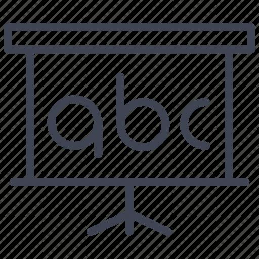 blackboard, education, learning, presentation, school icon